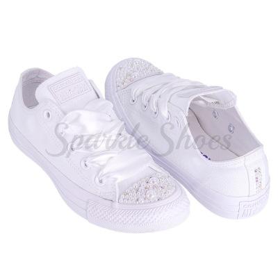 Svadobné Converse Chuck Taylor All Star 1U647 SparkleS White/Clear