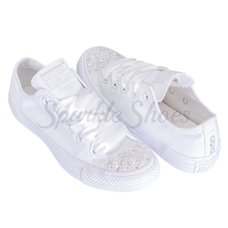 Svatební Converse Chuck Taylor All Star 1U647 SparkleS White/Pearl