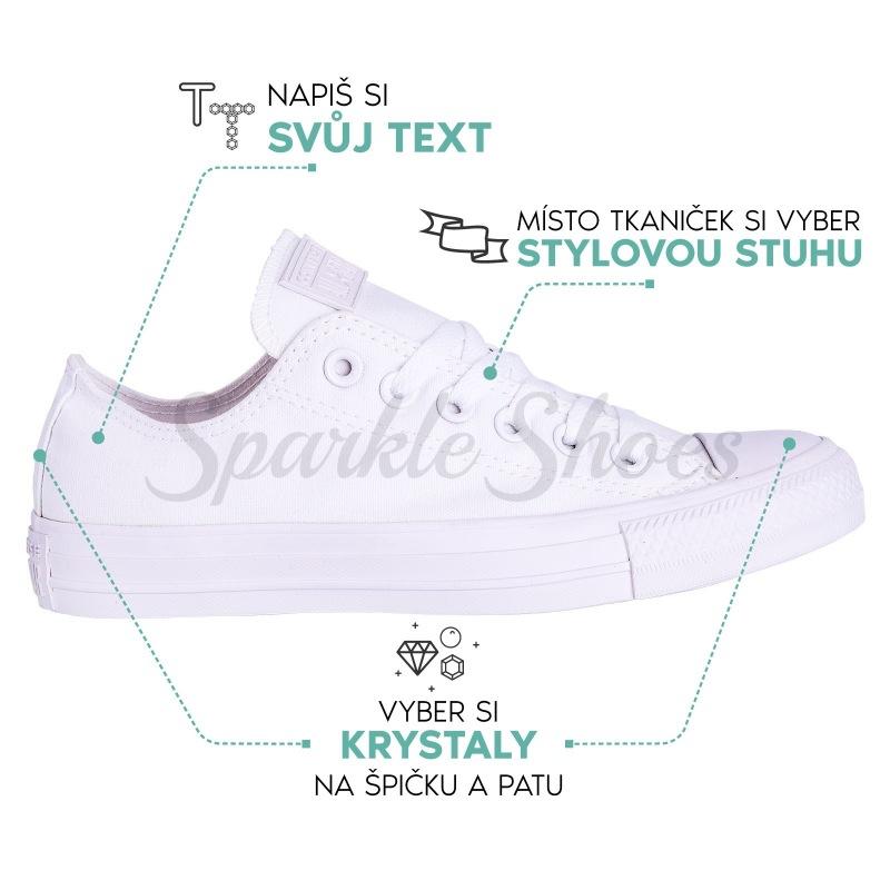Converse Chuck Taylor All Star 1U647 SparkleS bílé