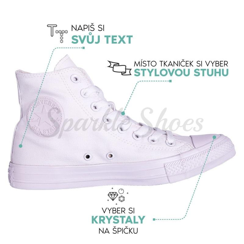 Svadobné Converse Chuck Taylor All Star 1U646 biele