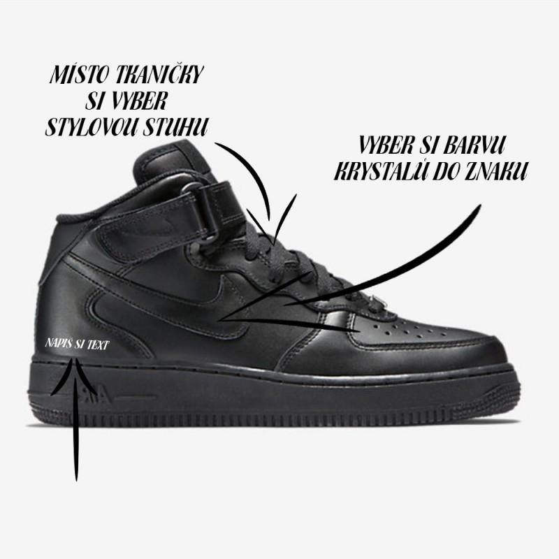 Nike Air Force 1 Mid black SparkleS