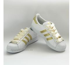 Adidas Superstar Foundation SparkleS White/Gold