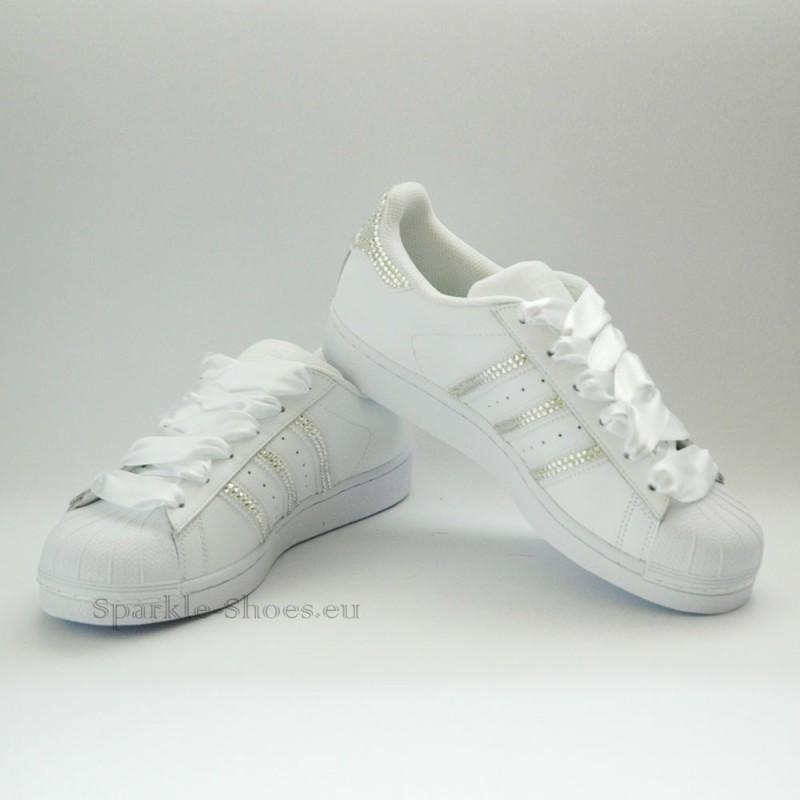 adidas superstar foundation sparkles white clear sparkle. Black Bedroom Furniture Sets. Home Design Ideas