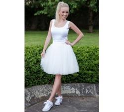 Obojstranná tutu sukne biela