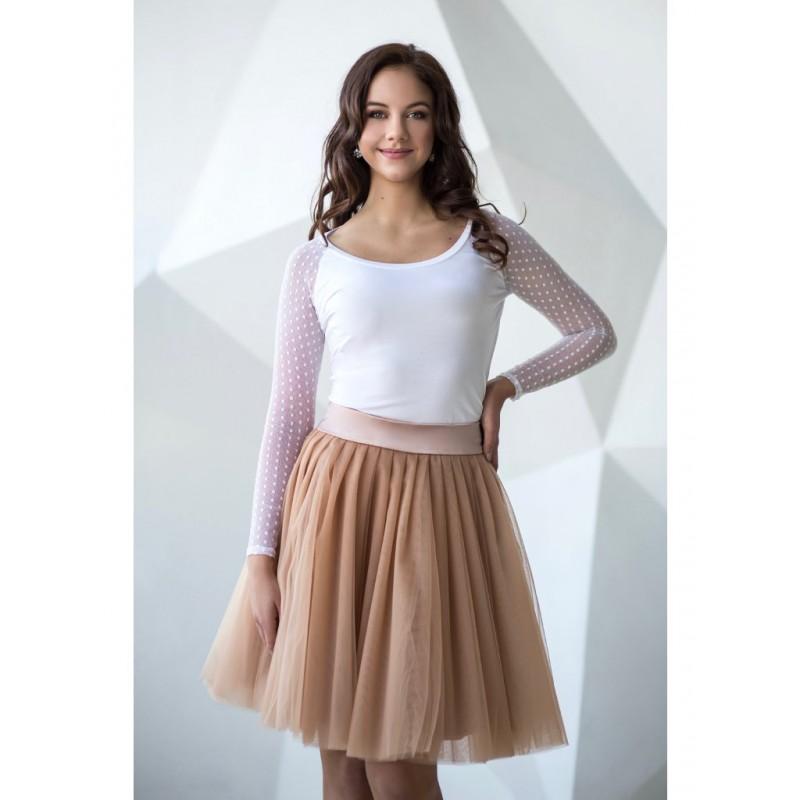 Oboustranná tutu sukně béžová