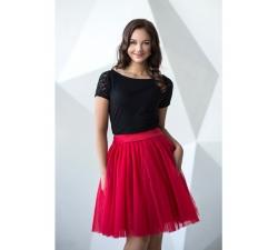 Oboustranná tutu sukně červená