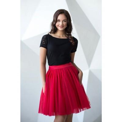 Obojstranná tutu sukne červená