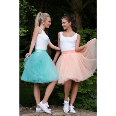 Obojstranná tutu sukne marhuľová