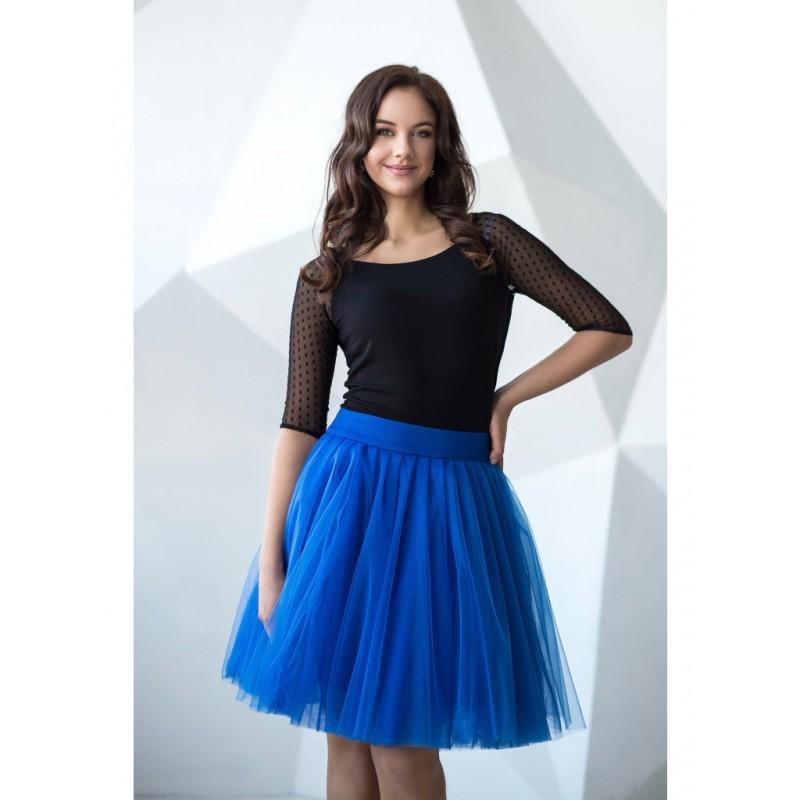 Oboustranná tutu sukně modrá