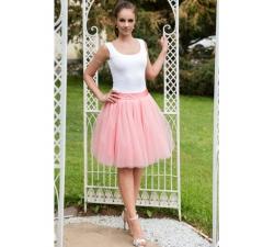 Oboustranná tutu sukně pudrově růžová