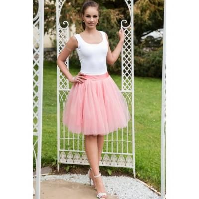Obojstranná tutu sukne púdrovo ružová