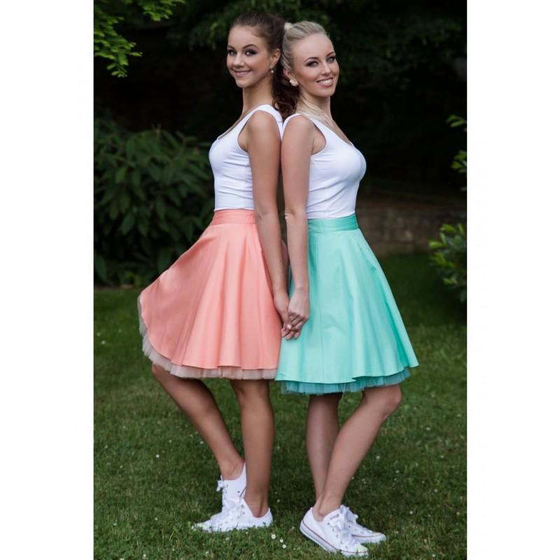 Oboustranná tutu sukně mint