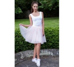 Oboustranná tutu sukně světle růžová
