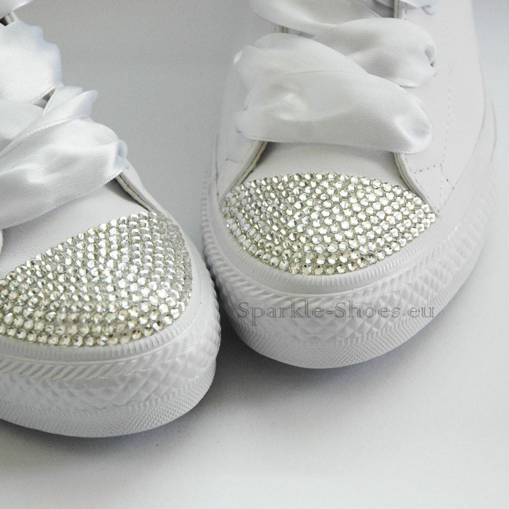 Converse Svatební Converse Chuck Taylor All Star Gemma SparkleS Leather White/Clear - 40 C553453