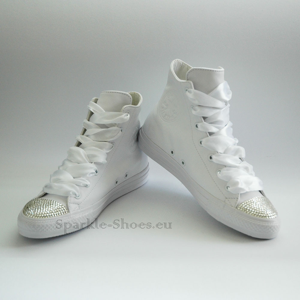 Converse Svatební Converse Chuck Taylor All Star Gemma SparkleS Leather White/Clear - 40 C553453