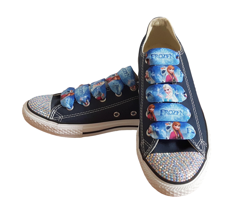 Converse Dětské Converse Chuck Taylor All Star 3J237 SparkleS Frozen Navy/Blue - 30 3J237