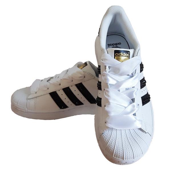 Adidas Adidas Superstar Foundation SparkleS White Black - 42 C77124