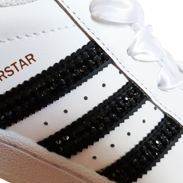 Adidas Superstar Foundation SparkleS White Black - 3