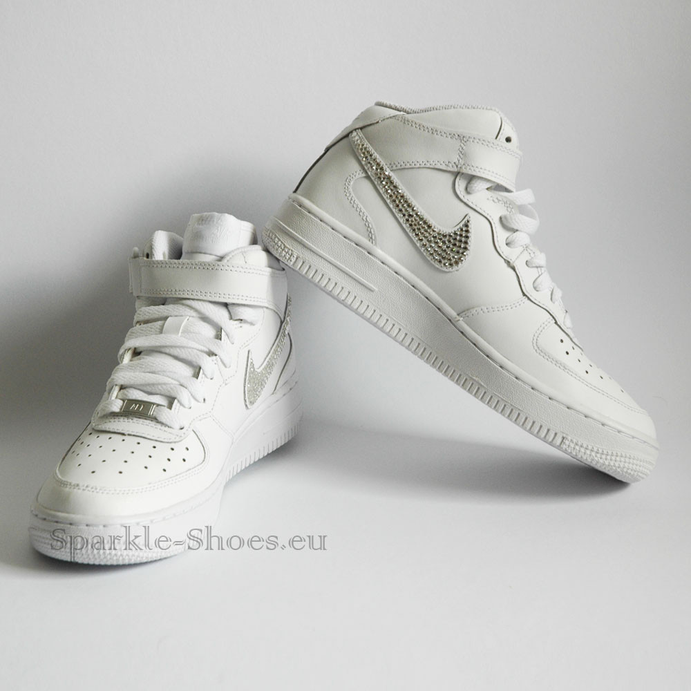 Nike Nike Air Force 1 Mid SparkleS White/Clear - 37.5 314195-113