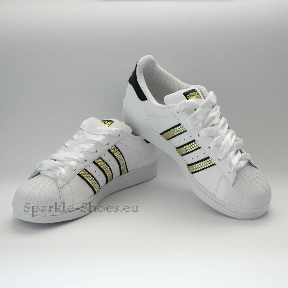 Adidas Adidas Superstar Foundation SparkleS White Black Gold - 7 C77124