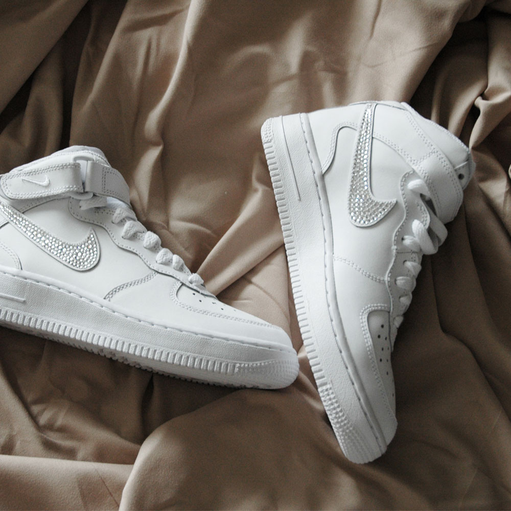 Nike Air Force 1 Mid SparkleS White/Clear - 36