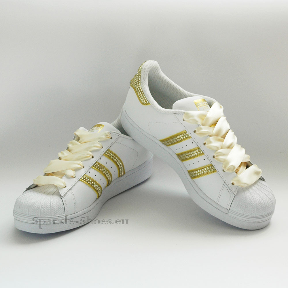 Adidas Adidas Superstar Foundation SparkleS White Gold /Gold - 5 BB2870