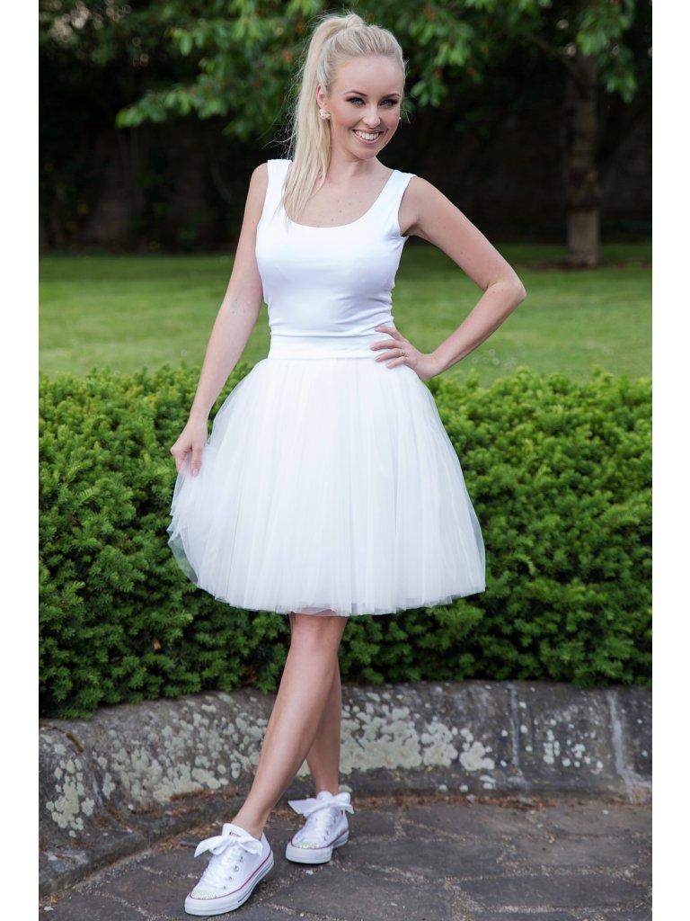 87d96bc794f Oboustranná tutu sukně bílá OTS001